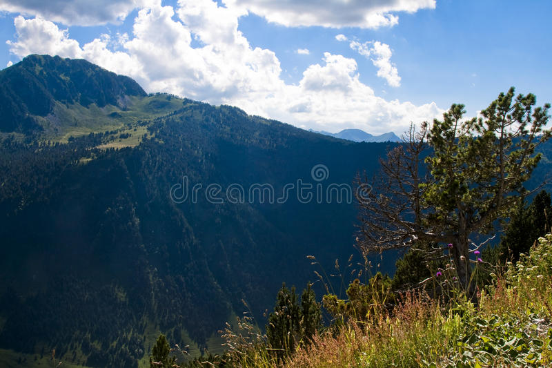 Postcard from pirineos mountains royalty free stock images