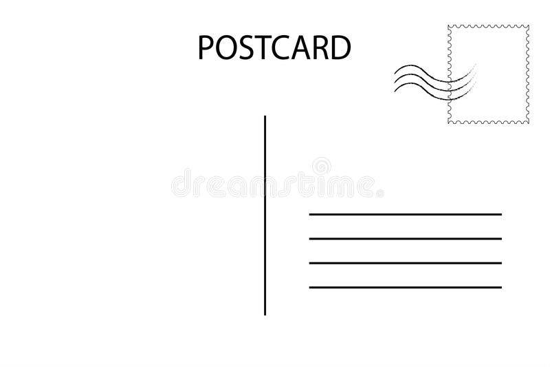 postcard address template