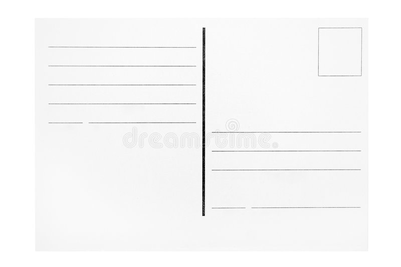 Postcard Template stock photography