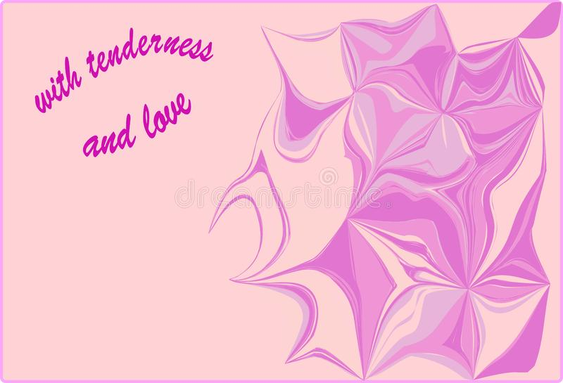 Postcard with tenderness and love