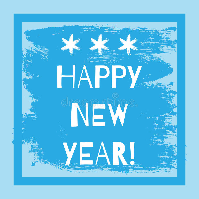 Postcard with the text Happy New Year! Frame vector illustration