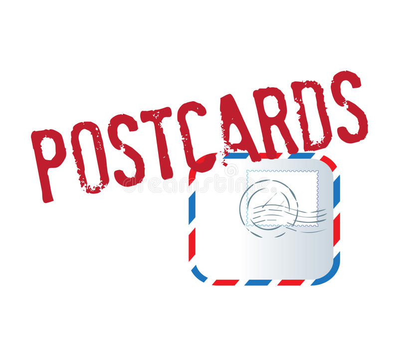Download Postcard Text And Letter stock illustration. Image of envelope - 83705411