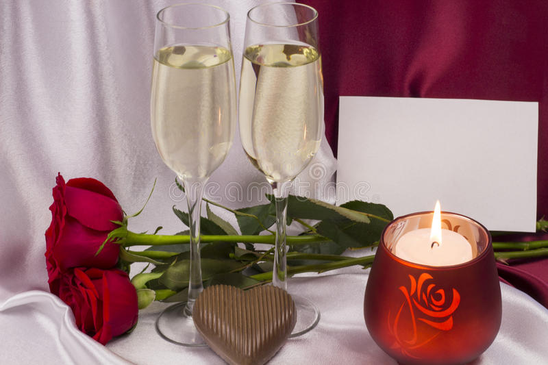Postcard for Valentine`s day. stock photos