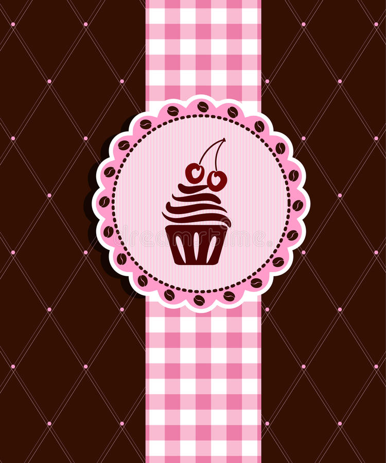 Free Postcard With Cupcake Stock Photos - 23437753