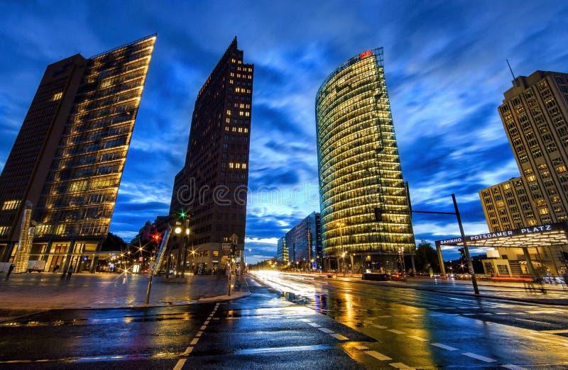 Postdamer Platz в Берлине стоковое фото rf