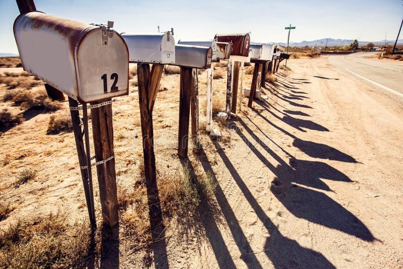 Postdozen bij de woestijn van Arizona royalty-vrije stock afbeeldingen