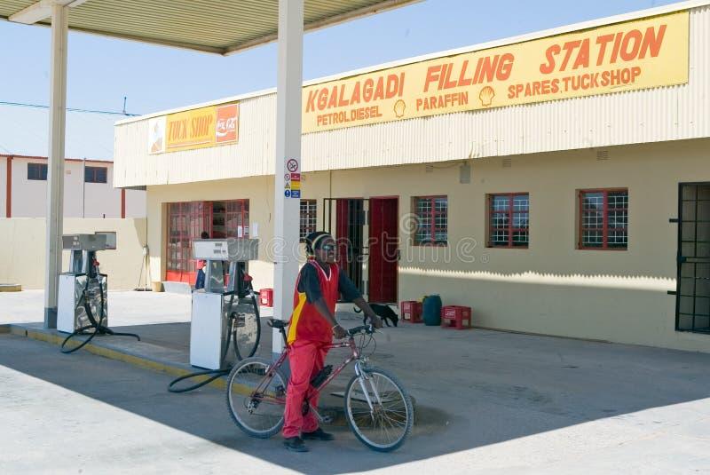 Poste d'essence de Kgalagadi photo libre de droits