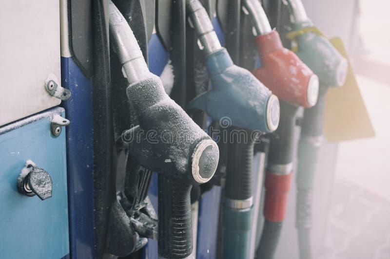 Poste d'essence fermé photographie stock libre de droits