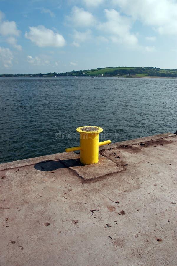 Poste de amarração do quay de Youghal foto de stock