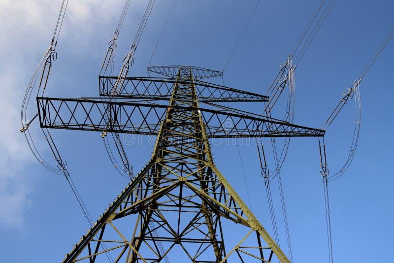Poste de la electricidad foto de archivo libre de regalías