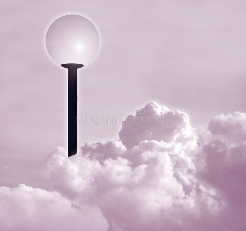 Poste de la lámpara libre illustration