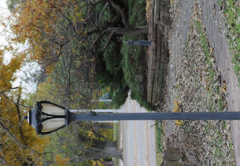Poste de la lámpara del parque fotos de archivo