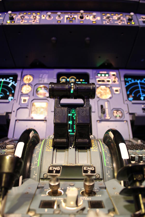 Poste de pilotage d'Airbus photos stock