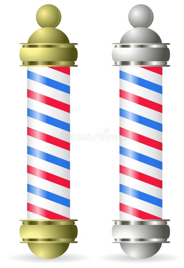 Poste del peluquero stock de ilustración