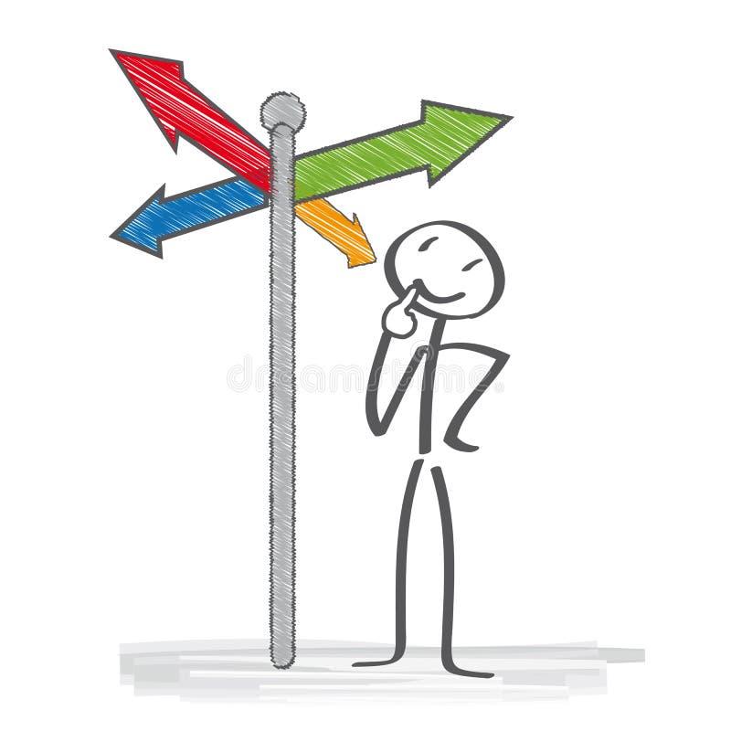 Poste indicador stock de ilustración