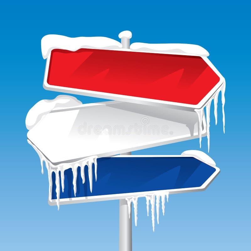 Poste indicador congelado (vector) stock de ilustración