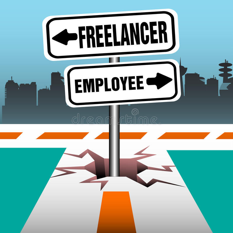 Poste indicador del empleado del Freelancer libre illustration