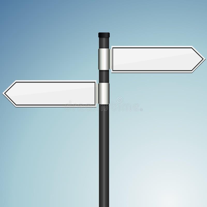 Poste indicador en blanco con la plantilla del efecto 3d stock de ilustración