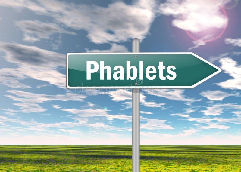 Poste indicador Phablets stock de ilustración