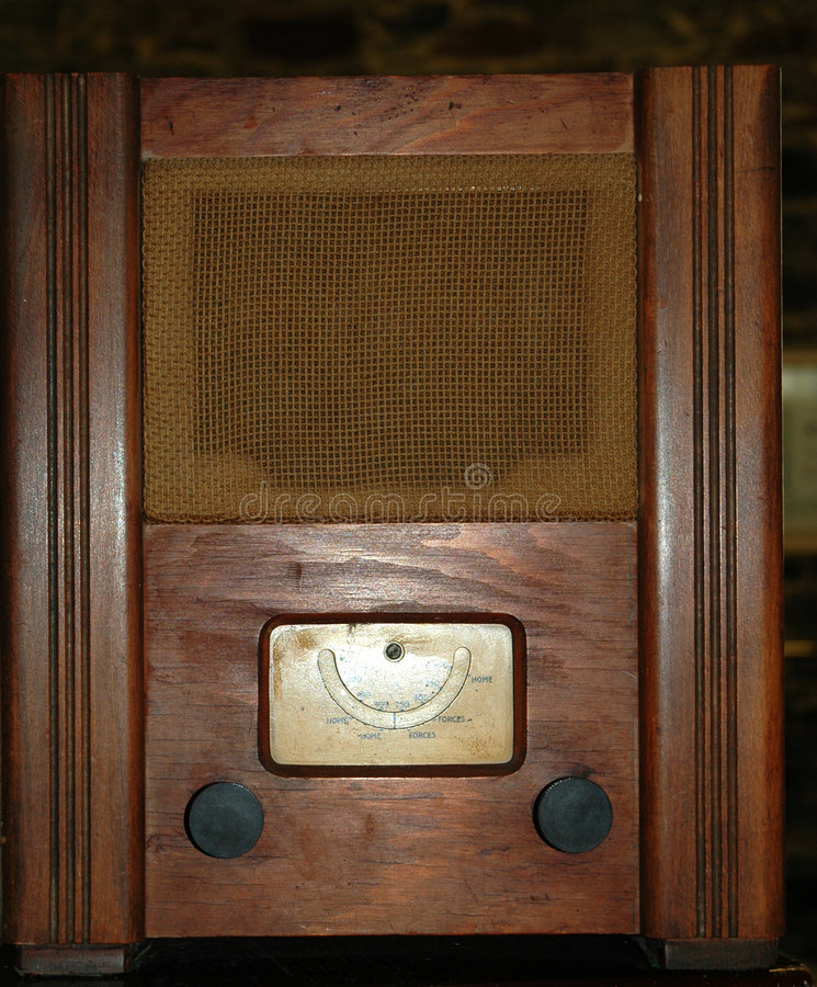 Poste radio de la guerre mondiale 2 photos stock