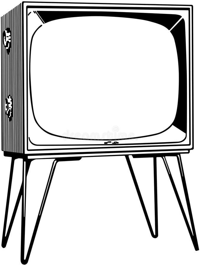 Poste TV illustration de vecteur