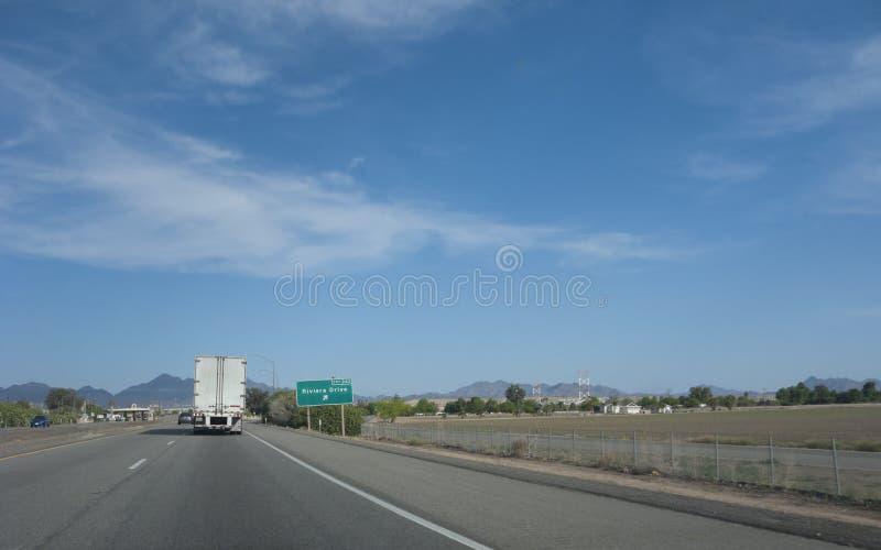 Rivera-Antrieb, Blythe, CA stockbild
