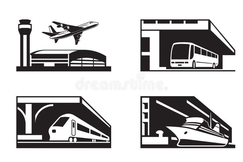 Posten van openbaar vervoer vector illustratie