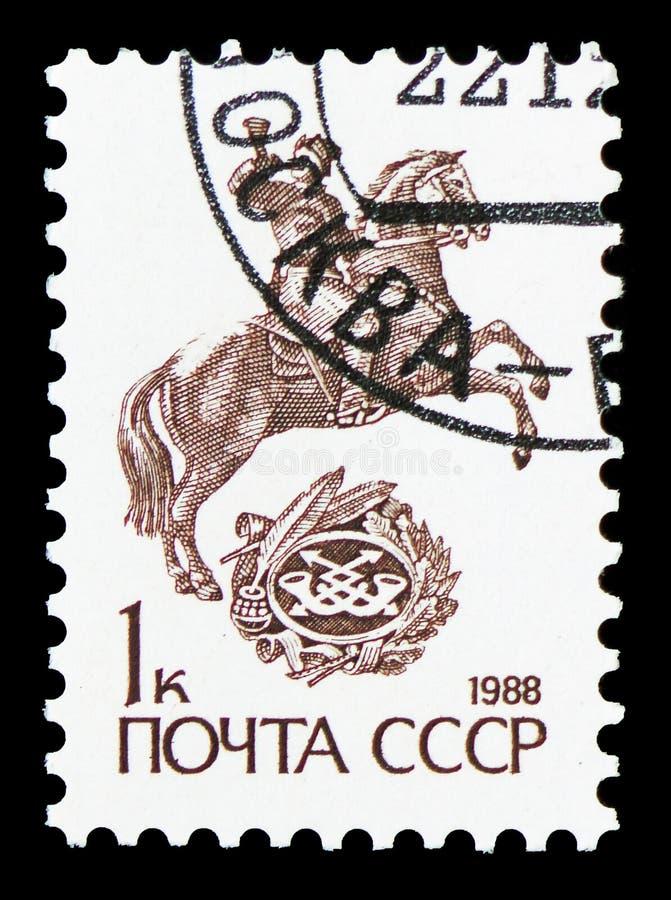Postenbote, keine Dauerserie serie 13, circa 1988 stockbilder
