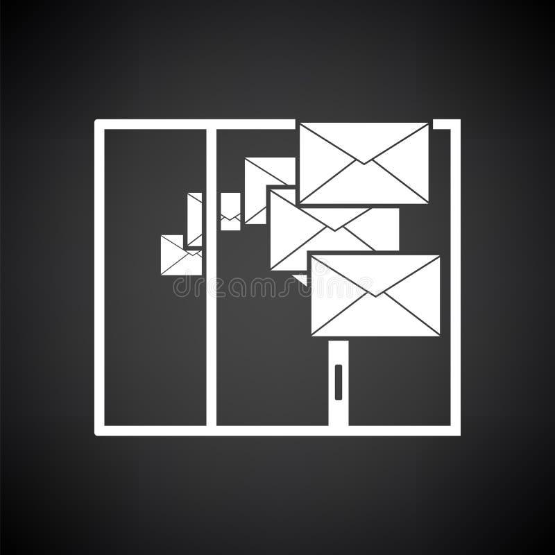 Postend Pictogram vector illustratie