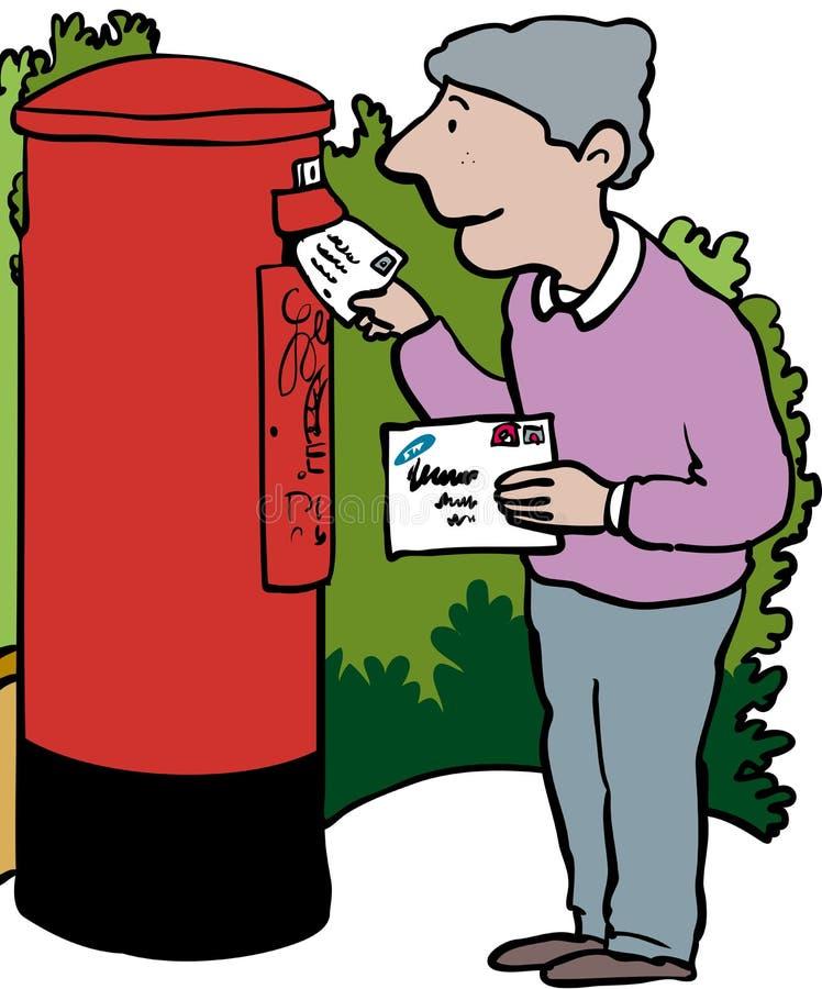 Postende brieven royalty-vrije illustratie
