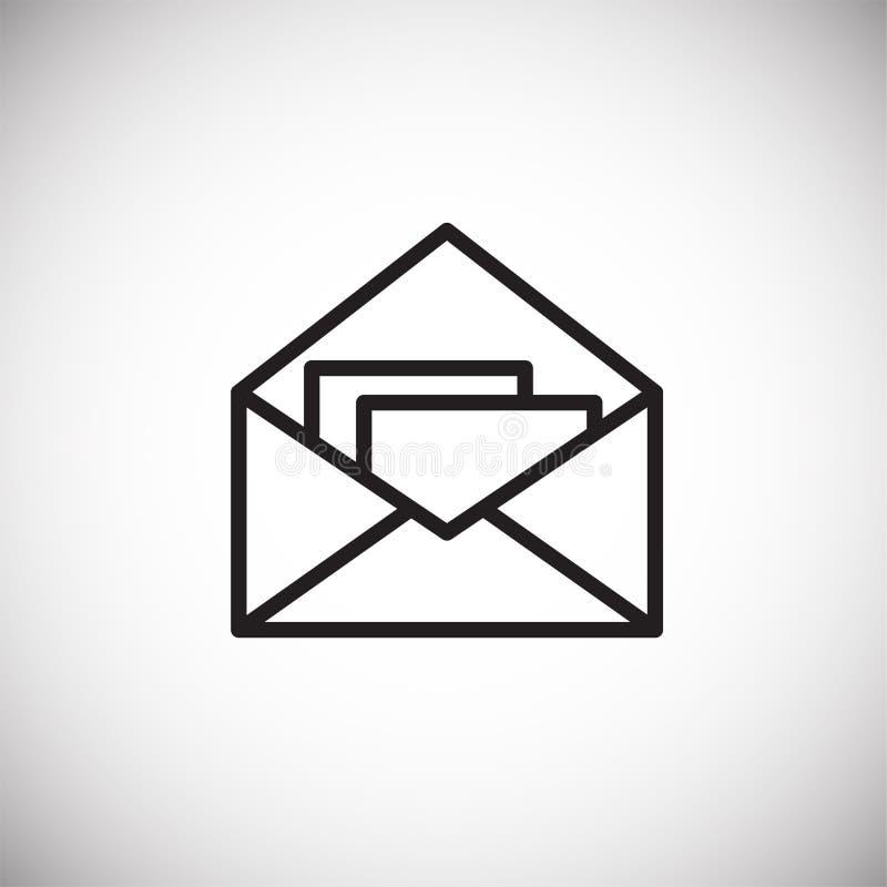 Postenvelop op Witte achtergrond vector illustratie