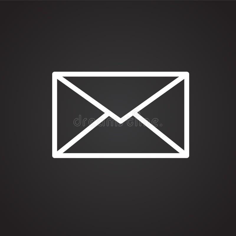 Postenvelop op zwarte achtergrond vector illustratie