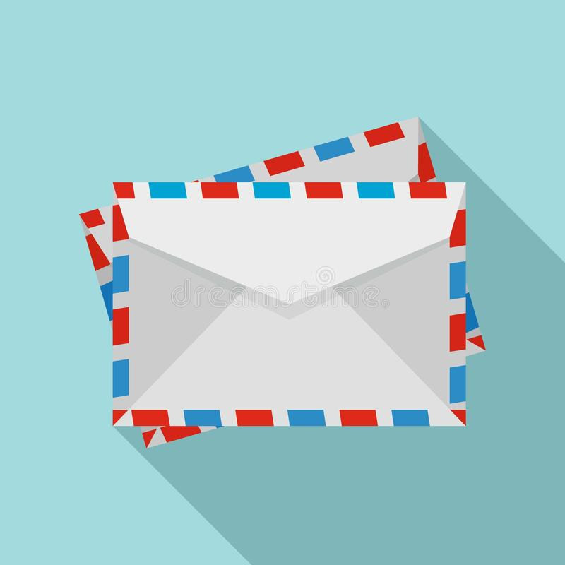 Postenveloppictogram, vlakke stijl stock illustratie