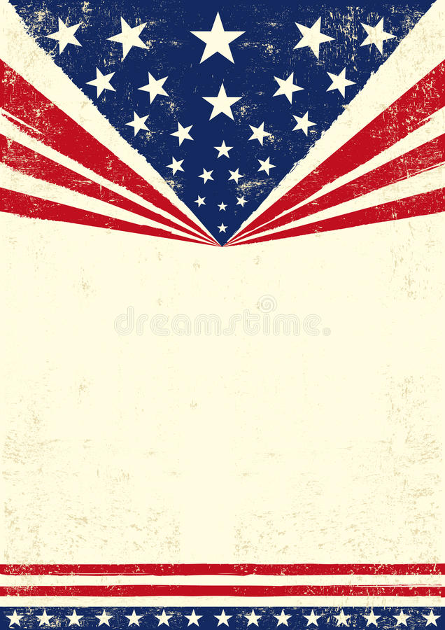 Poster of America royalty free illustration