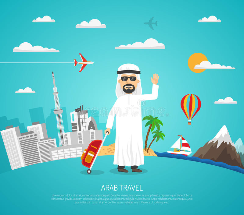 Poster Of Arab Travel royalty free illustration
