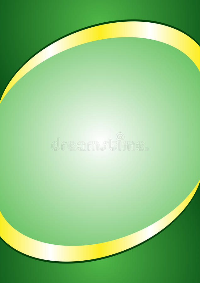 A4 Poster Background Template Green And Gold Color Header