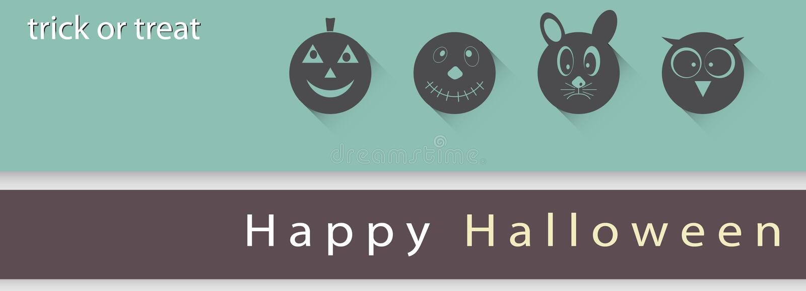 Poster, banner or background Halloween Party Night. royalty free stock photos