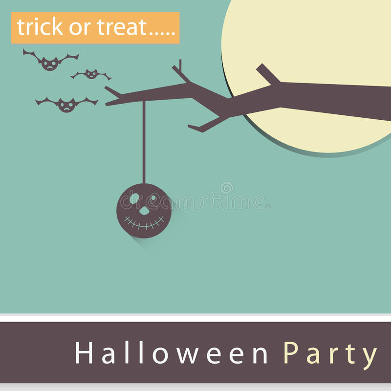 Poster, banner or background Halloween Party Night. royalty free stock photo