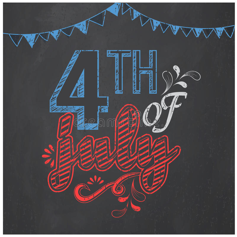 Poster, banner or flyer for American Independence Day. royalty free illustration