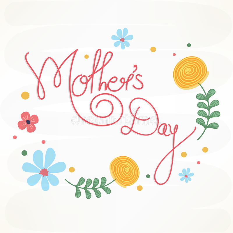 Poster, Banner Or Flyer For Happy Mothers Day. Stock Illustration ...