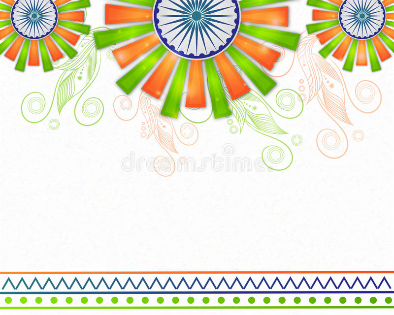 Poster, Banner for Republic Day celebration. Beautiful Poster, Banner or Flyer design with space for your text for Indian Republic Day celebration vector illustration