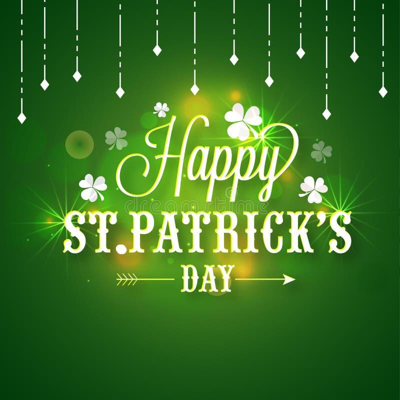 Poster or banner for St. Patricks Day celebration. stock illustration