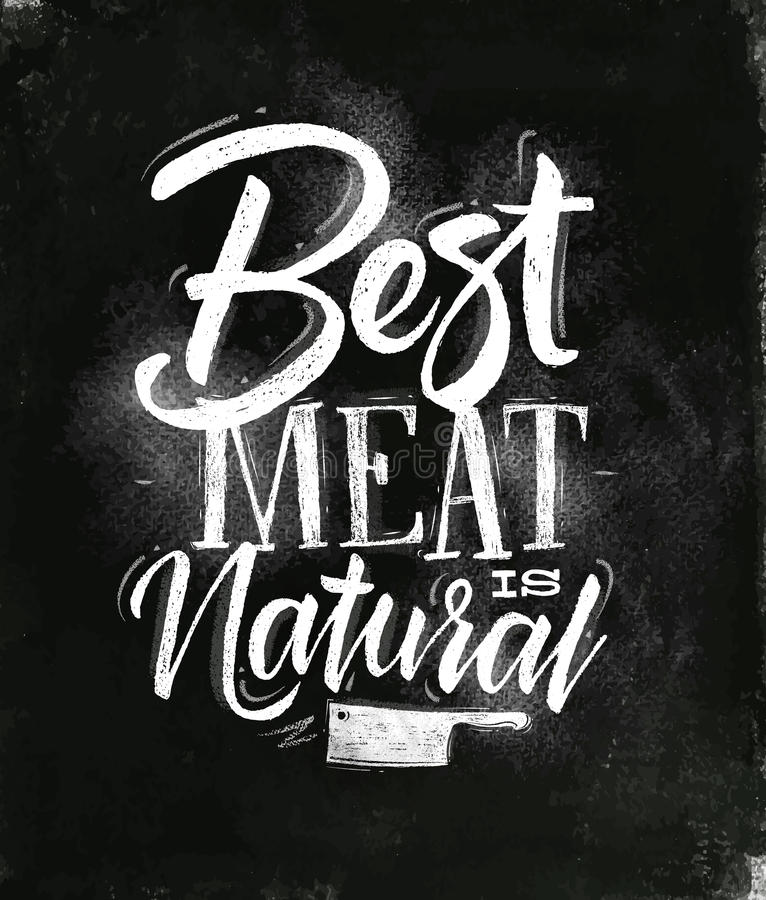 Download Poster Best Meat Chalk Stock Vector - Image: 83718369