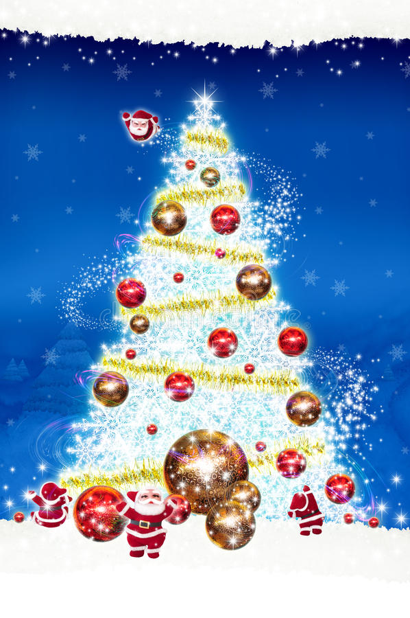 Poster Billboard Christmas On blue background stock photo
