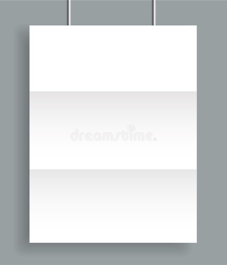 Poster blank bi fold brochure mockup cover template stock illustration