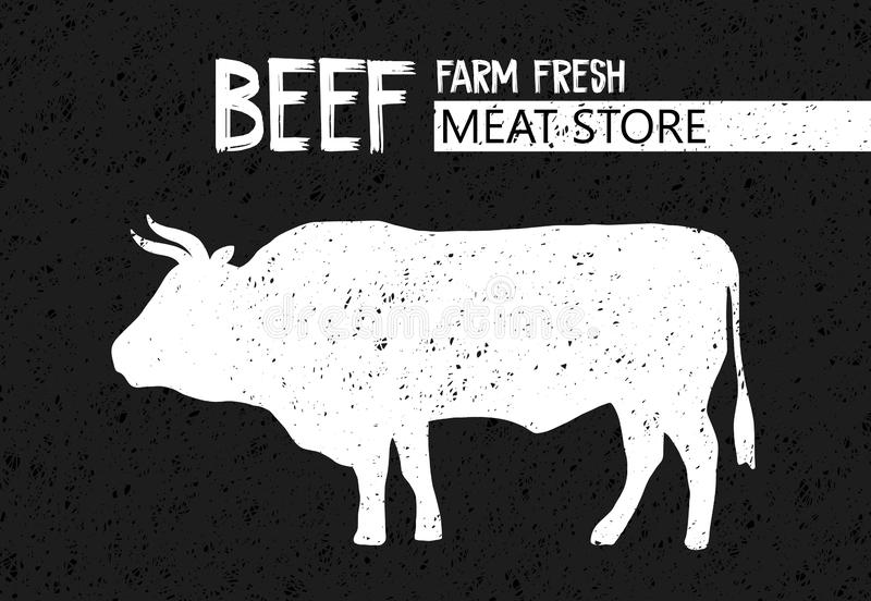 Poster for Butchery meat store vector illustration