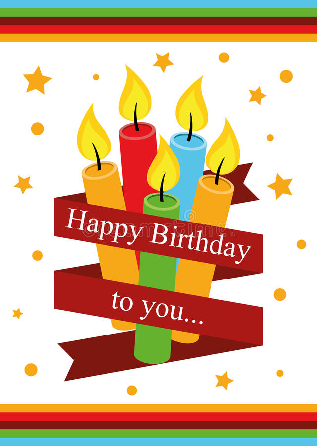 Poster Card Illustration Graphic Vector Happy Birthday To You. For different purpose royalty free illustration