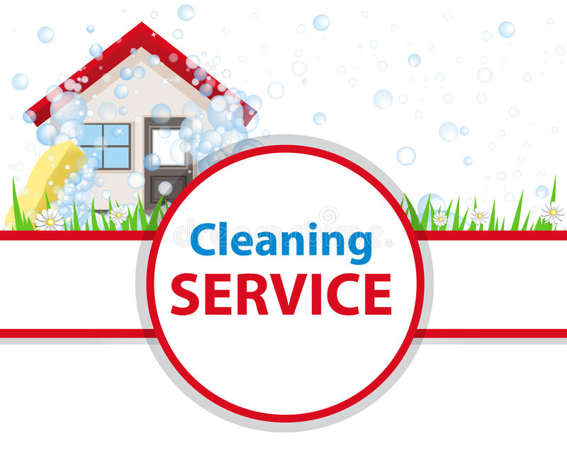 Poster Clean House. Banner For Advertising Service Cleaning. Stock ...