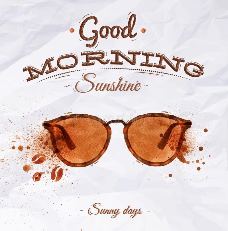 Poster coffee spot glasses vector illustration