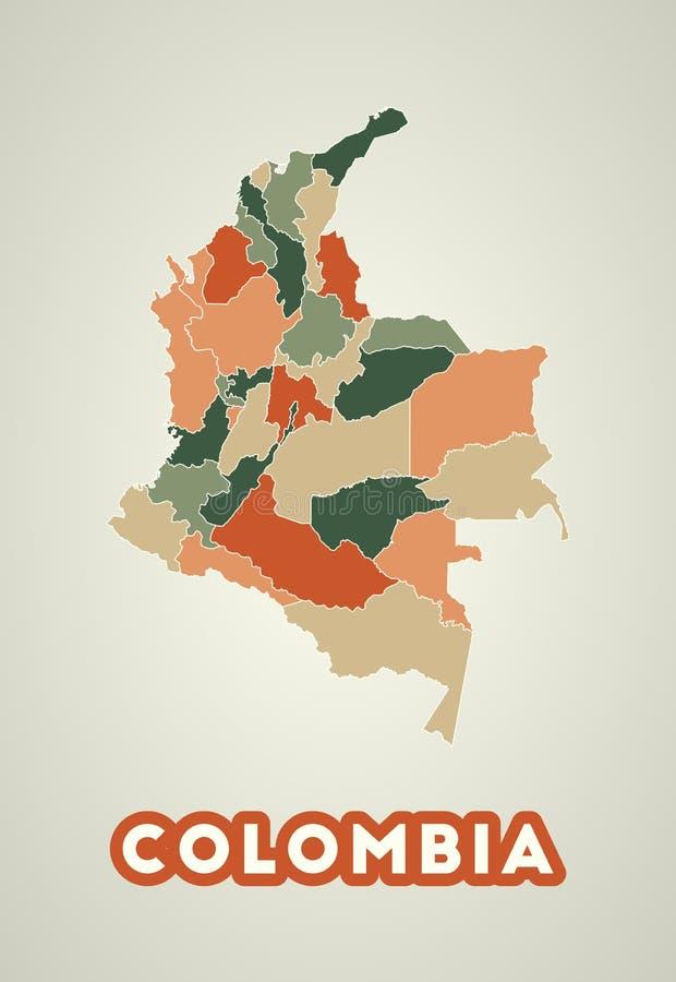 Poster colombiano in stile retrò illustrazione vettoriale